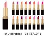 lipstick palette. big set of... | Shutterstock .eps vector #364371041