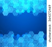 blue technology background with ... | Shutterstock .eps vector #364372469