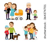happy family characters | Shutterstock . vector #364374701