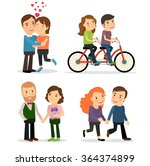 romantic couples | Shutterstock . vector #364374899