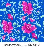 seamless floral pattern peonies.... | Shutterstock .eps vector #364375319