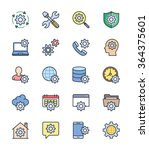 general setting icons  color... | Shutterstock .eps vector #364375601