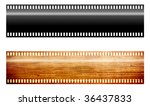film ribbons  black and wooden... | Shutterstock . vector #36437833