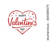 happy valentines day lettering... | Shutterstock .eps vector #364385075