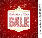 valentines day sale. sale label ... | Shutterstock .eps vector #364390595
