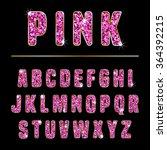 glitter alphabet made of pink... | Shutterstock .eps vector #364392215