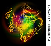 vector illustration of musical... | Shutterstock .eps vector #364394345