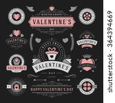valentine's day labels and... | Shutterstock .eps vector #364394669