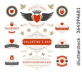 valentine's day labels and... | Shutterstock .eps vector #364394681