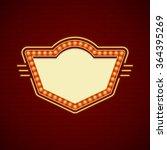 retro showtime sign design.... | Shutterstock .eps vector #364395269