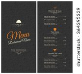 restaurant menu design. vector... | Shutterstock .eps vector #364395329