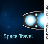 spaceship on galaxy background | Shutterstock .eps vector #364402361