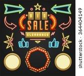 retro showtime signs design... | Shutterstock .eps vector #364404149