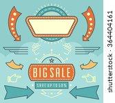 retro american 1950s sign... | Shutterstock .eps vector #364404161
