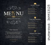 restaurant menu design. vector... | Shutterstock .eps vector #364413125