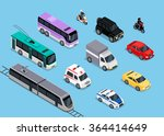 isometric 3d transport set flat ... | Shutterstock . vector #364414649