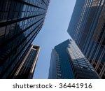 high modern skyscrapers on a... | Shutterstock . vector #36441916