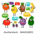 set of colored fruits for kids | Shutterstock . vector #364426001