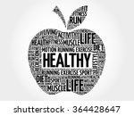 healthy apple word cloud ...   Shutterstock .eps vector #364428647