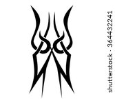 tribal tattoo vector design... | Shutterstock .eps vector #364432241