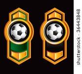 soccer ball on royal style... | Shutterstock .eps vector #36443848