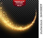 transparent white star trail... | Shutterstock .eps vector #364438859