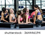 group of fit woman smiling... | Shutterstock . vector #364446194