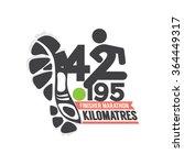 full marathon finisher design... | Shutterstock .eps vector #364449317