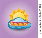 beautiful summer illustrations .... | Shutterstock .eps vector #364451489