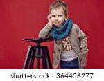 Fashionable Child. Little Boy...