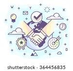 vector illustration in modern... | Shutterstock .eps vector #364456835