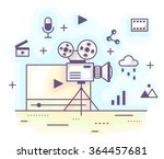 vector illustration in modern... | Shutterstock .eps vector #364457681