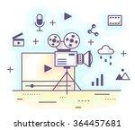 vector illustration in modern...   Shutterstock .eps vector #364457681