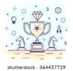 vector illustration in modern... | Shutterstock .eps vector #364457729