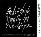 hand drawn alphabet   number  ...   Shutterstock .eps vector #364464971