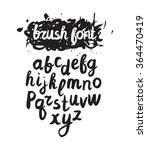 vector handwritten brush... | Shutterstock .eps vector #364470419