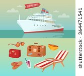 sea holidays concept with... | Shutterstock .eps vector #364471541