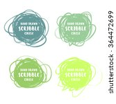 vector set of 4 hand drawn... | Shutterstock .eps vector #364472699
