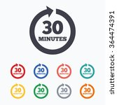 every 30 minutes sign icon.... | Shutterstock .eps vector #364474391
