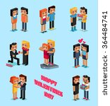 isometric valentines day.... | Shutterstock .eps vector #364484741