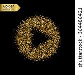 gold glitter vector icon of... | Shutterstock .eps vector #364486421