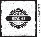 snowboarding emblem. logotype... | Shutterstock .eps vector #364489799