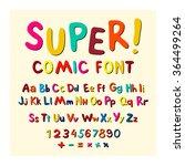 wow. creative high detail font... | Shutterstock . vector #364499264