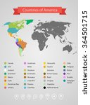world map infographic template. ... | Shutterstock .eps vector #364501715