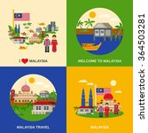 malaysia for travelers 4 flat... | Shutterstock .eps vector #364503281