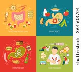 digestion concept icons set... | Shutterstock .eps vector #364503704