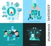 business insurance concept... | Shutterstock .eps vector #364504019