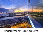 hong kong kowloon city sunset | Shutterstock . vector #364508495