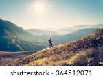 man traveler with backpack... | Shutterstock . vector #364512071