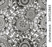 seamless doodle flower... | Shutterstock .eps vector #364513865